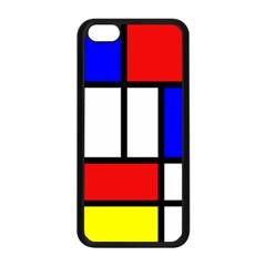 Piet Mondrian Mondriaan Style Apple Iphone 5c Seamless Case (black)
