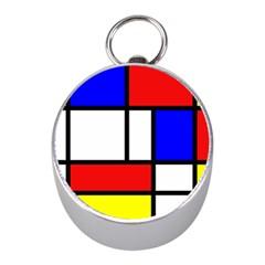 Piet Mondrian Mondriaan Style Mini Silver Compasses
