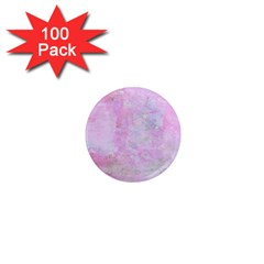 Soft Pink Watercolor Art 1  Mini Magnets (100 Pack)