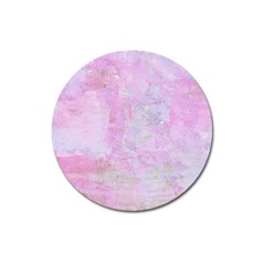 Soft Pink Watercolor Art Magnet 3  (round)