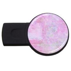 Soft Pink Watercolor Art Usb Flash Drive Round (4 Gb)