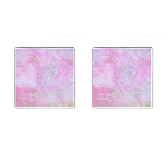 Soft Pink Watercolor Art Cufflinks (square)
