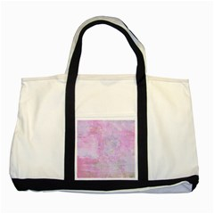 Soft Pink Watercolor Art Two Tone Tote Bag