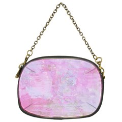 Soft Pink Watercolor Art Chain Purses (one Side)