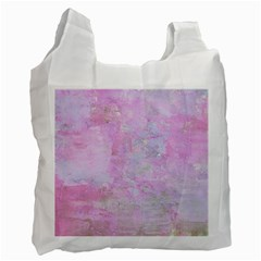 Soft Pink Watercolor Art Recycle Bag (one Side) by yoursparklingshop