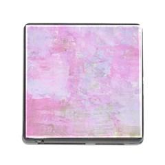 Soft Pink Watercolor Art Memory Card Reader (square)