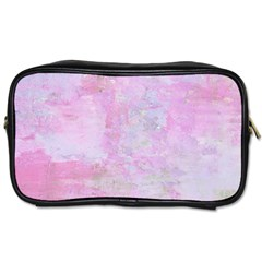 Soft Pink Watercolor Art Toiletries Bags 2 Side by yoursparklingshop