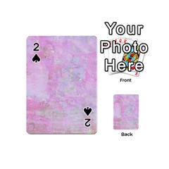 Soft Pink Watercolor Art Playing Cards 54 (mini)