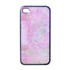 Soft Pink Watercolor Art Apple Iphone 4 Case (black)