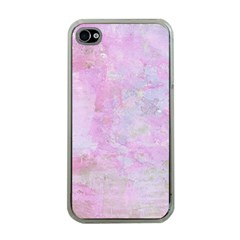 Soft Pink Watercolor Art Apple Iphone 4 Case (clear)