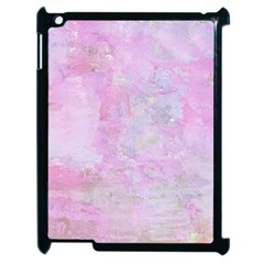 Soft Pink Watercolor Art Apple Ipad 2 Case (black)