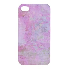Soft Pink Watercolor Art Apple Iphone 4/4s Premium Hardshell Case
