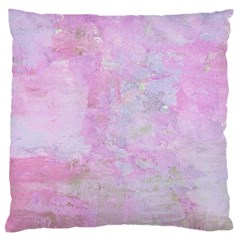 Soft Pink Watercolor Art Large Cushion Case (two Sides)