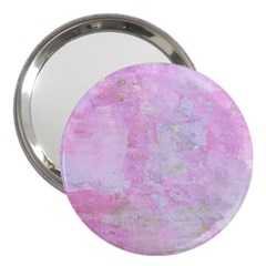 Soft Pink Watercolor Art 3  Handbag Mirrors
