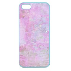 Soft Pink Watercolor Art Apple Seamless Iphone 5 Case (color)