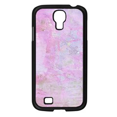 Soft Pink Watercolor Art Samsung Galaxy S4 I9500/ I9505 Case (black)