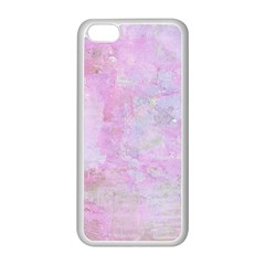 Soft Pink Watercolor Art Apple Iphone 5c Seamless Case (white)