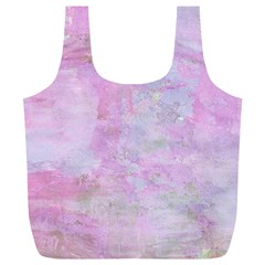 Soft Pink Watercolor Art Full Print Recycle Bags (l)