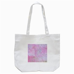 Soft Pink Watercolor Art Tote Bag (white)
