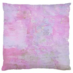 Soft Pink Watercolor Art Standard Flano Cushion Case (two Sides)