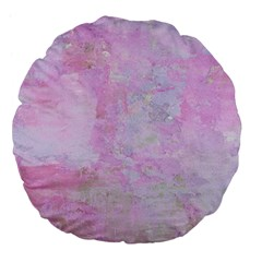 Soft Pink Watercolor Art Large 18  Premium Flano Round Cushions