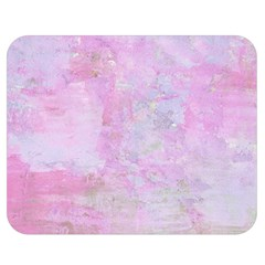 Soft Pink Watercolor Art Double Sided Flano Blanket (medium)