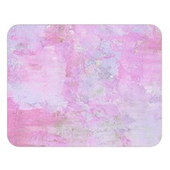 Soft Pink Watercolor Art Double Sided Flano Blanket (large)