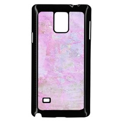 Soft Pink Watercolor Art Samsung Galaxy Note 4 Case (black)