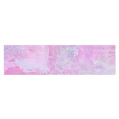Soft Pink Watercolor Art Satin Scarf (oblong)