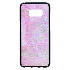 Soft Pink Watercolor Art Samsung Galaxy S8 Plus Black Seamless Case