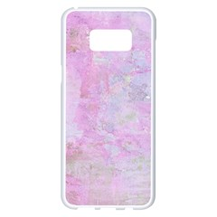 Soft Pink Watercolor Art Samsung Galaxy S8 Plus White Seamless Case