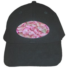 Romantic Pink Rose Petals Floral  Black Cap