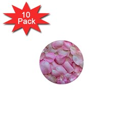 Romantic Pink Rose Petals Floral  1  Mini Magnet (10 Pack)