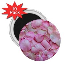 Romantic Pink Rose Petals Floral  2 25  Magnets (10 Pack)