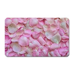 Romantic Pink Rose Petals Floral  Magnet (rectangular)