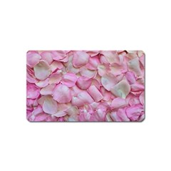 Romantic Pink Rose Petals Floral  Magnet (name Card)