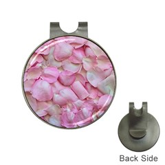 Romantic Pink Rose Petals Floral  Hat Clips With Golf Markers