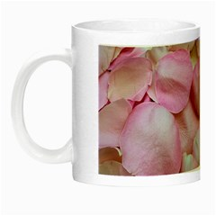 Romantic Pink Rose Petals Floral  Night Luminous Mugs