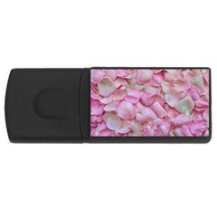Romantic Pink Rose Petals Floral  Rectangular Usb Flash Drive