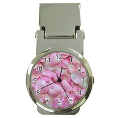 Romantic Pink Rose Petals Floral  Money Clip Watches