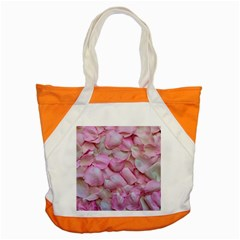 Romantic Pink Rose Petals Floral  Accent Tote Bag