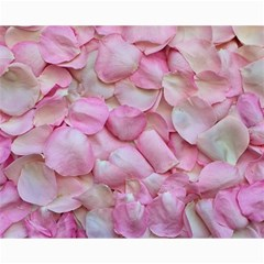 Romantic Pink Rose Petals Floral  Canvas 16  X 20