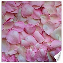 Romantic Pink Rose Petals Floral  Canvas 20  X 20