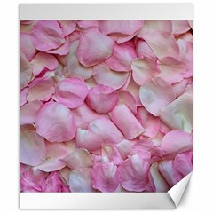 Romantic Pink Rose Petals Floral  Canvas 20  X 24