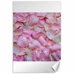 Romantic Pink Rose Petals Floral  Canvas 24  X 36