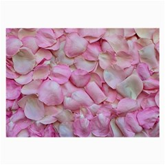 Romantic Pink Rose Petals Floral  Large Glasses Cloth (2 Side)