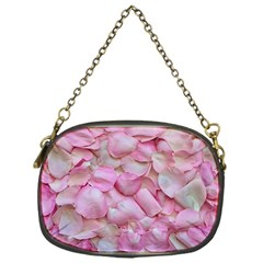 Romantic Pink Rose Petals Floral  Chain Purses (one Side)