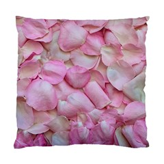 Romantic Pink Rose Petals Floral  Standard Cushion Case (one Side) by yoursparklingshop
