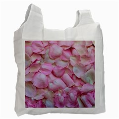Romantic Pink Rose Petals Floral  Recycle Bag (two Side)