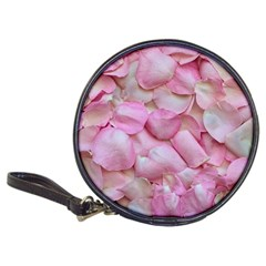 Romantic Pink Rose Petals Floral  Classic 20 Cd Wallets